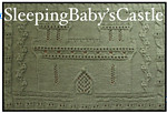 Sleeping Baby's Castle Blanket